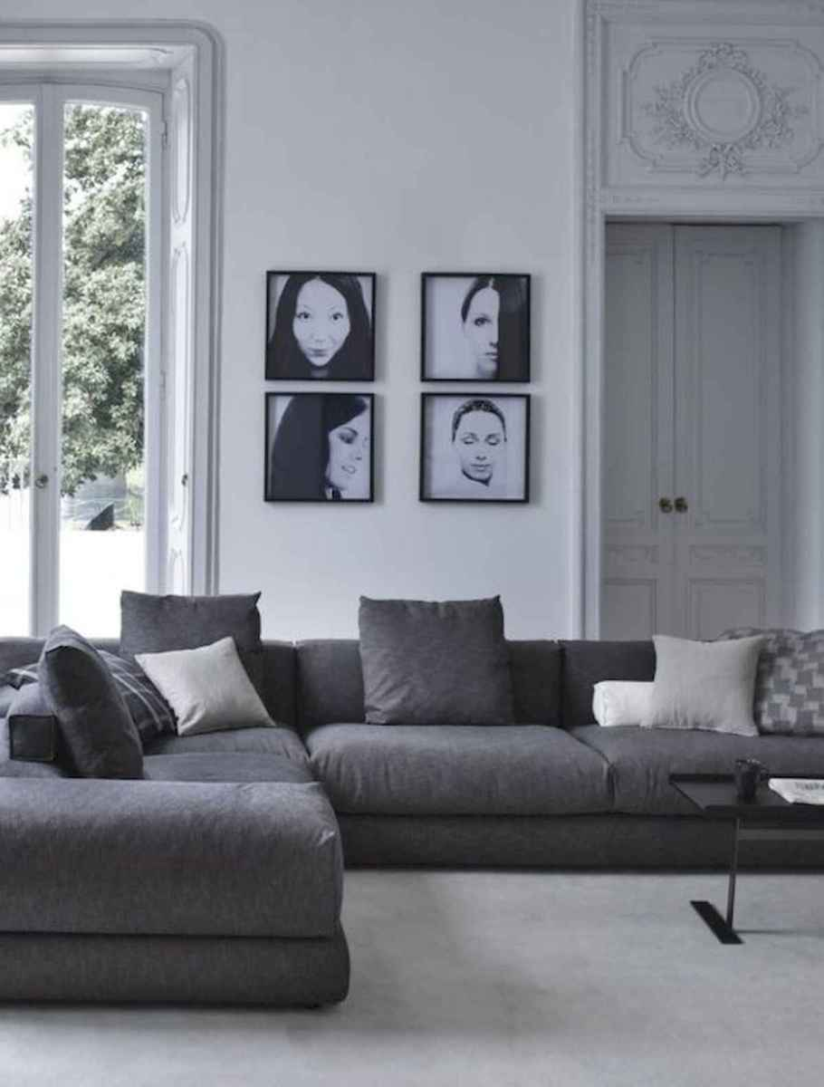 70 Stunning Grey White Black Living Room Decor Ideas And Remodel (28)