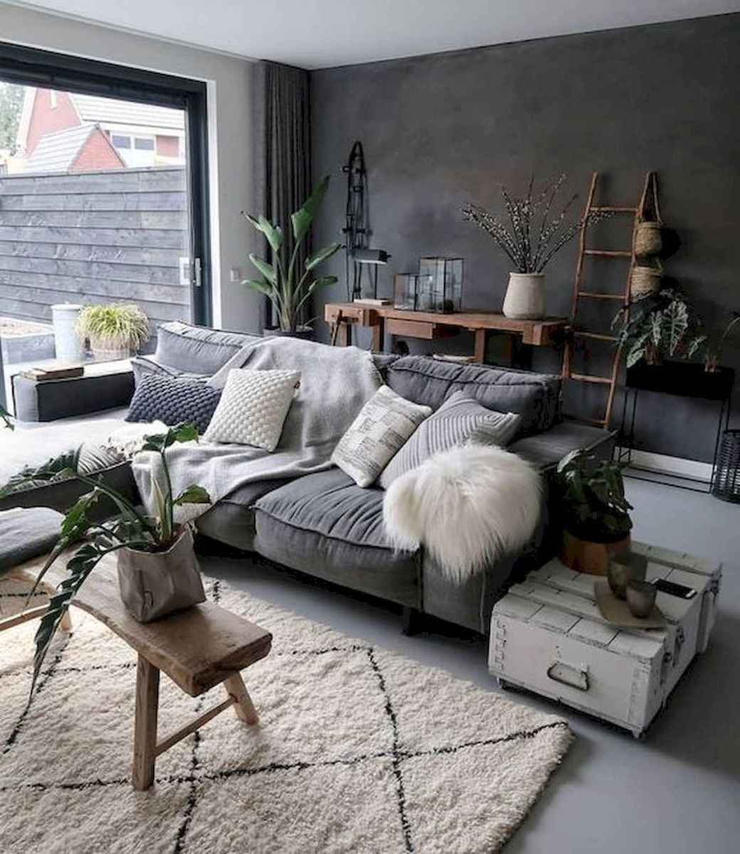 70 Stunning Grey White Black Living Room Decor Ideas And Remodel (32)
