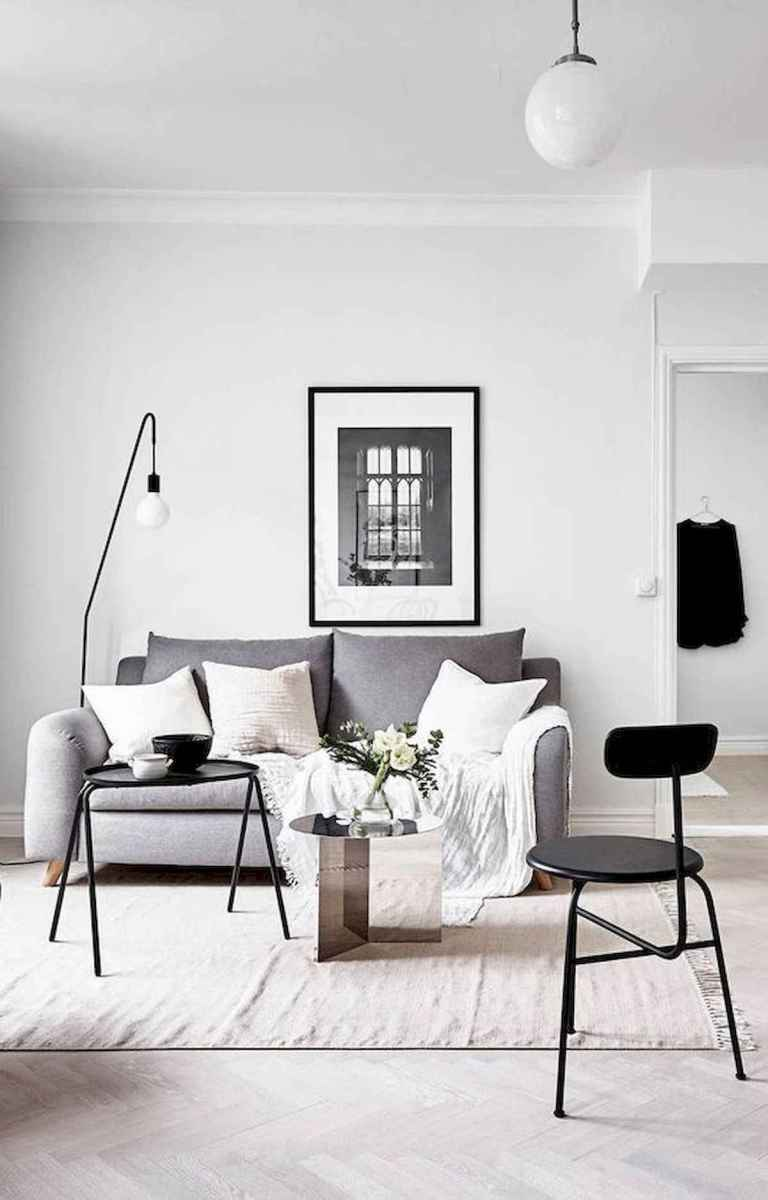 70 Stunning Grey White Black Living Room Decor Ideas And Remodel (36)