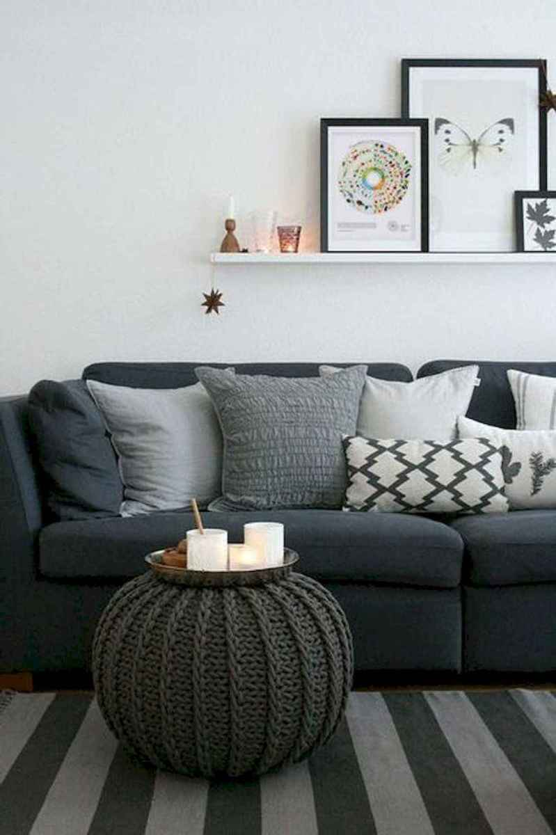 70 Stunning Grey White Black Living Room Decor Ideas And Remodel (39)