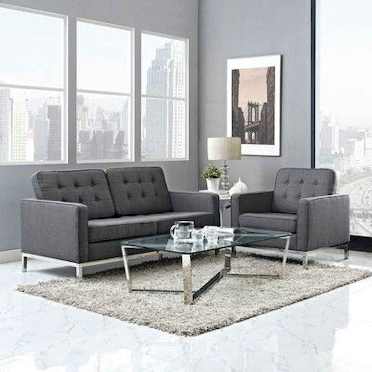 70 Stunning Grey White Black Living Room Decor Ideas And Remodel (40)