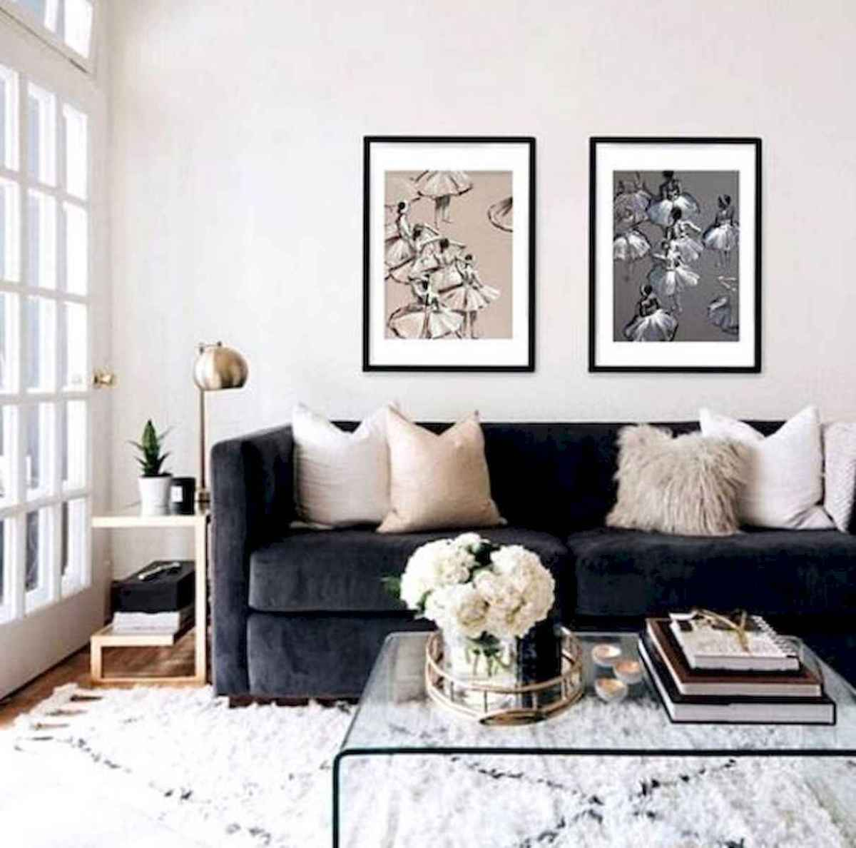 70 Stunning Grey White Black Living Room Decor Ideas And Remodel (42)