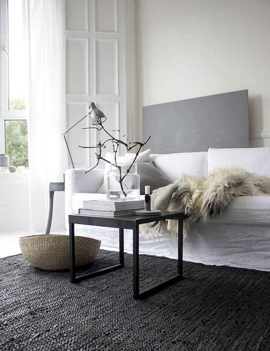 70 Stunning Grey White Black Living Room Decor Ideas And Remodel (48)