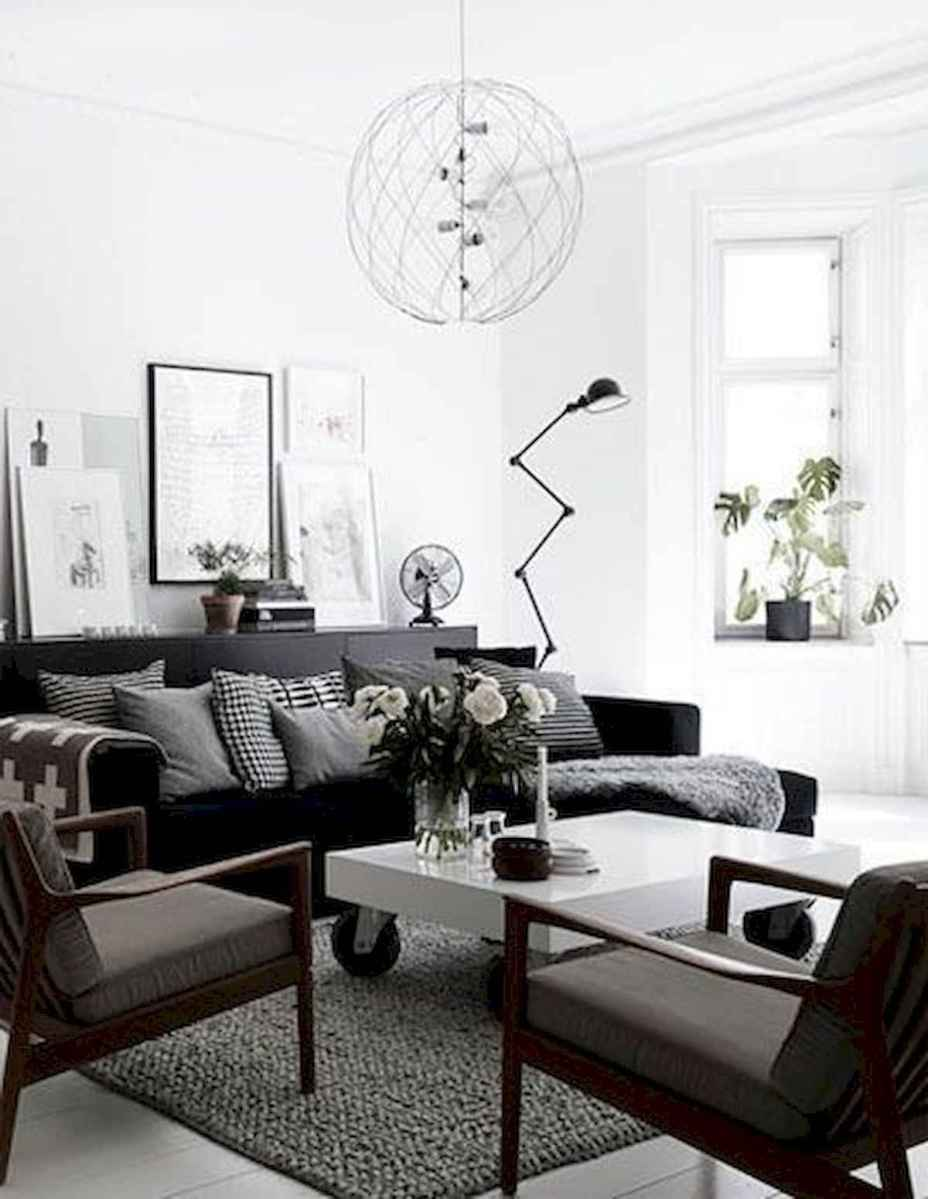 70 Stunning Grey White Black Living Room Decor Ideas And Remodel (54)