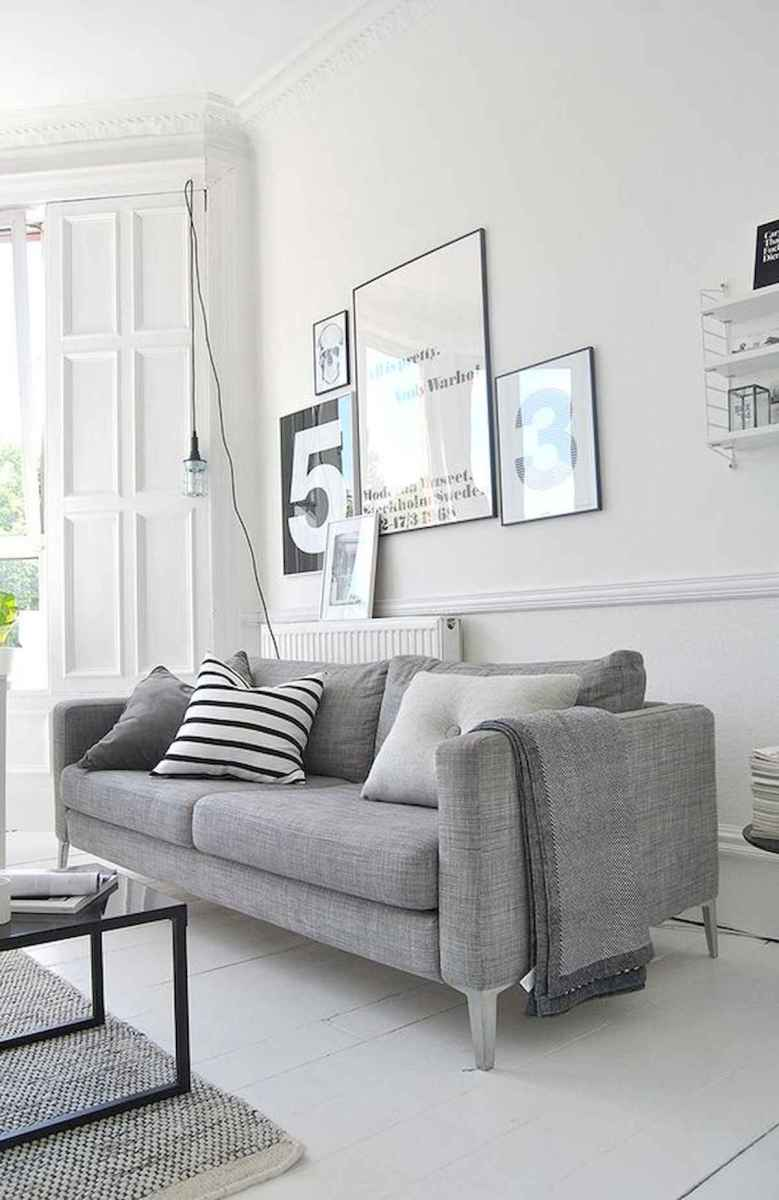 70 Stunning Grey White Black Living Room Decor Ideas And Remodel (57)