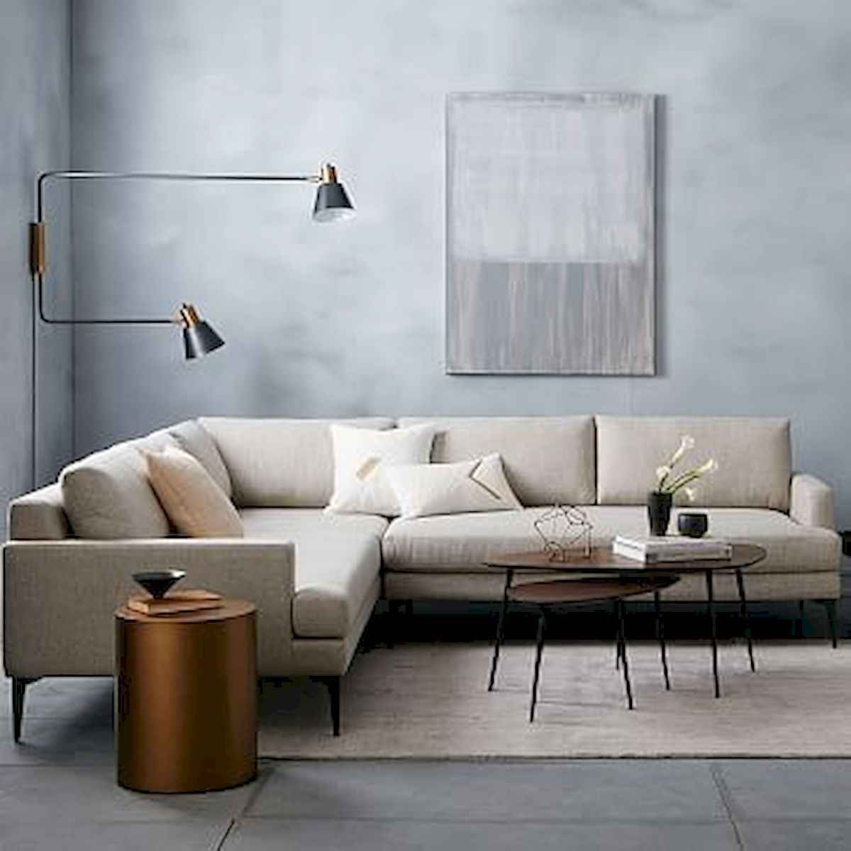 70 Stunning Grey White Black Living Room Decor Ideas And Remodel (59)