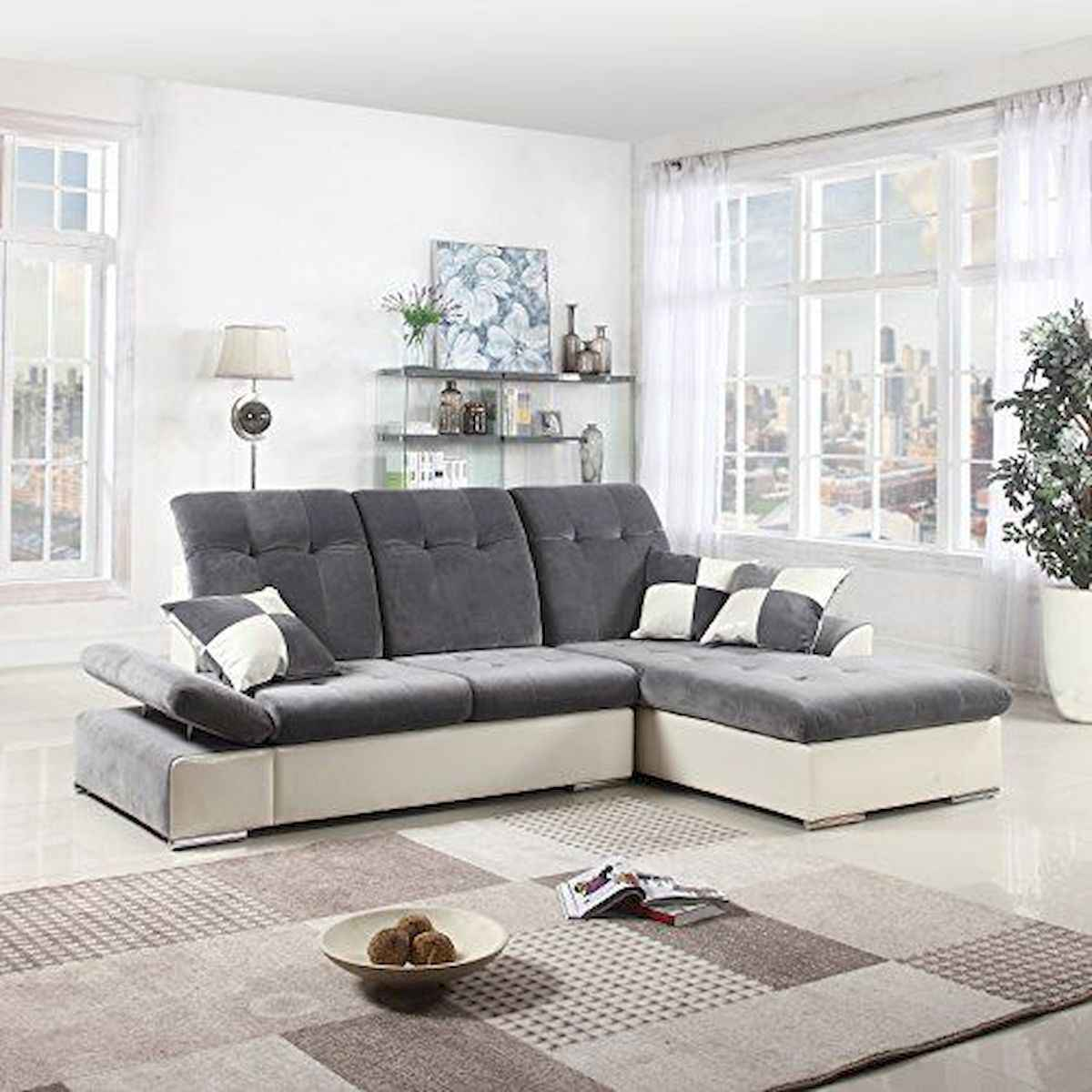 70 Stunning Grey White Black Living Room Decor Ideas And Remodel (63)