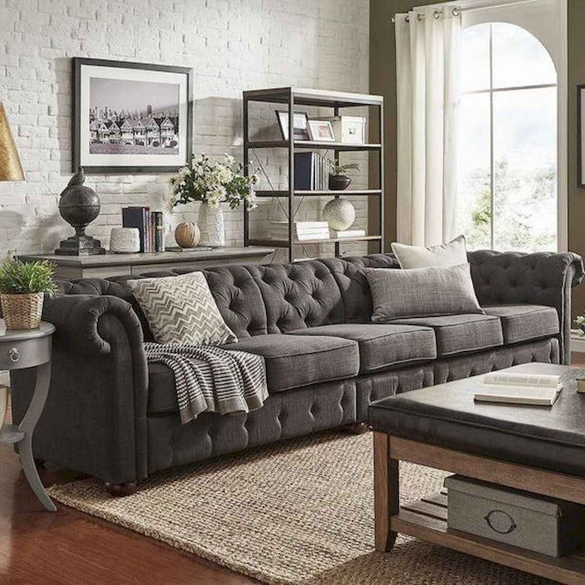 70 Stunning Grey White Black Living Room Decor Ideas And Remodel (66)