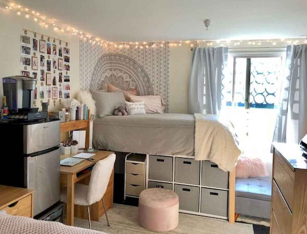 80 Fantastic Small Apartment Bedroom College Design Ideas and Decor (64)