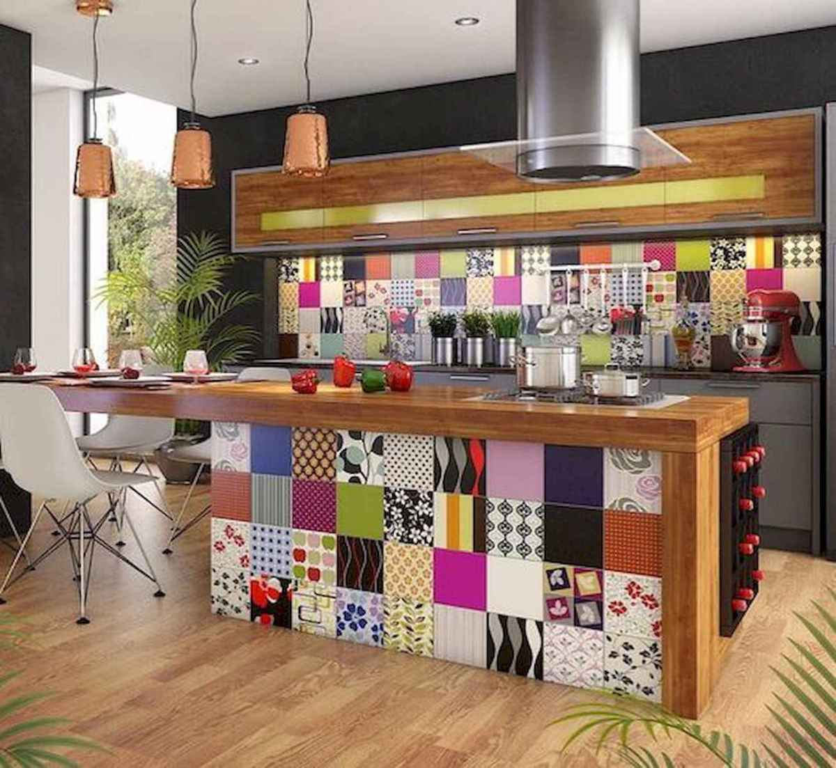 80+ Favorite Colorful Kitchen Decor Ideas And Remodel for Summer Project (58)