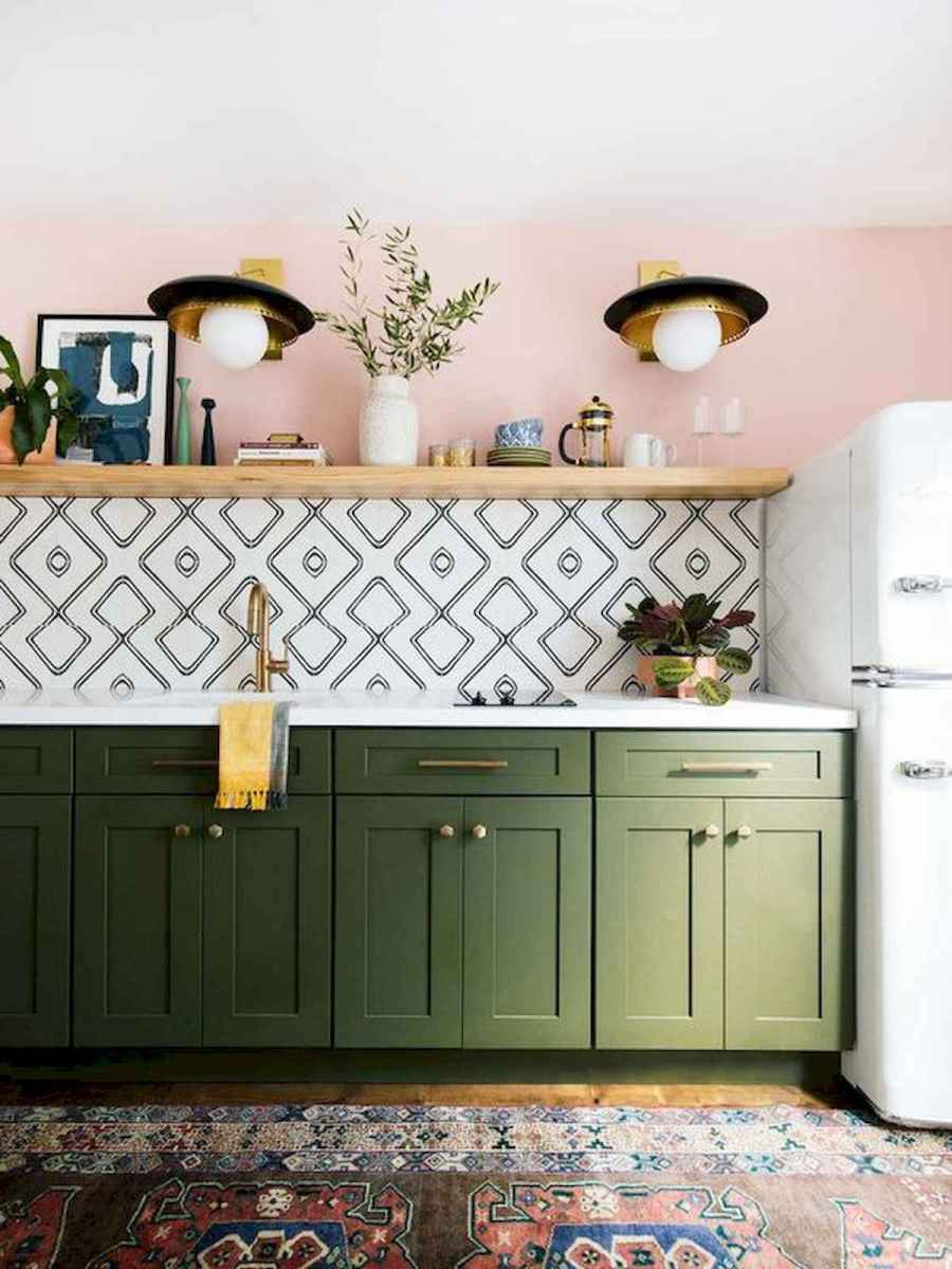 80+ Favorite Colorful Kitchen Decor Ideas And Remodel for Summer Project (62)
