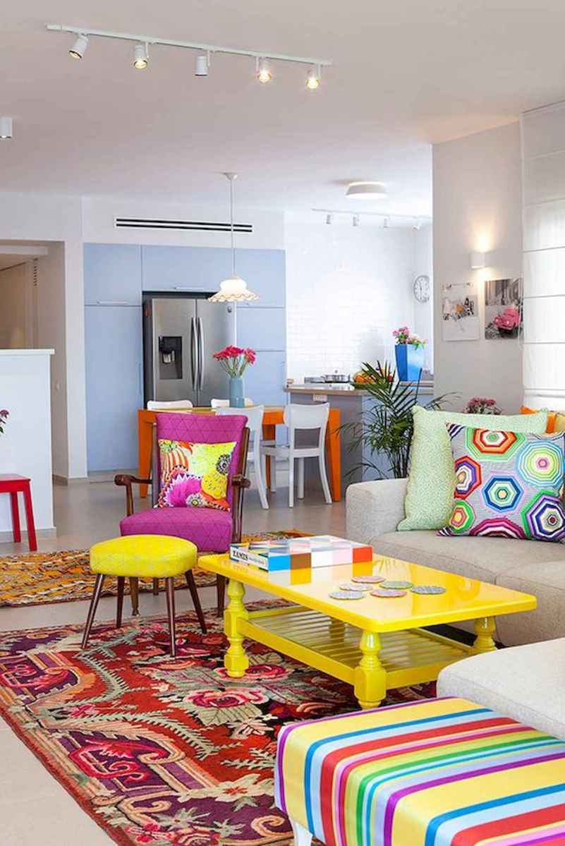 80+ Stunning Colorful Living Room Decor Ideas And Remodel for Summer Project (15)