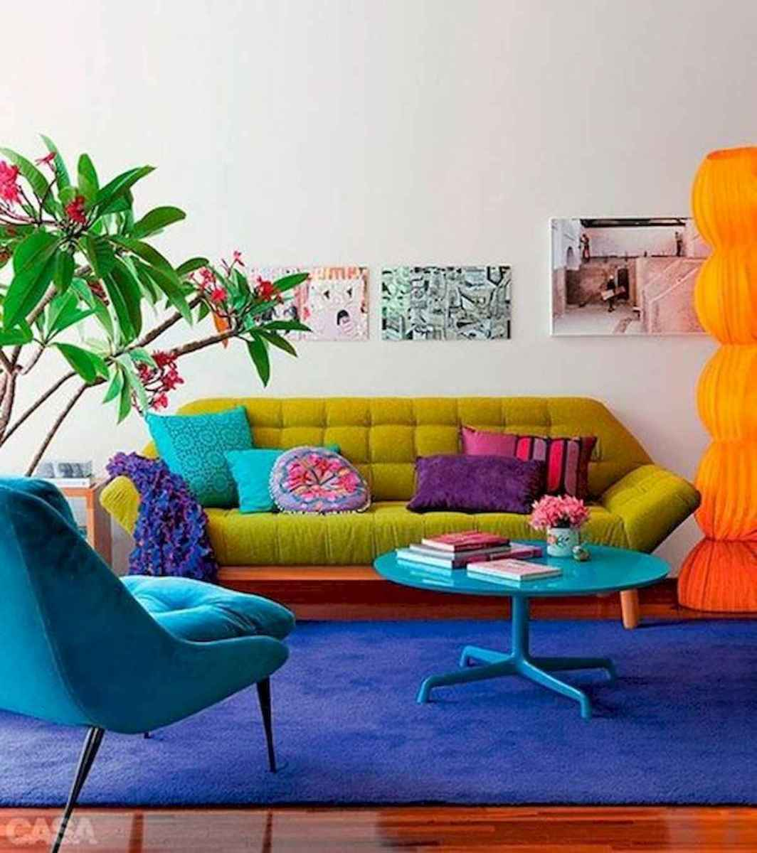 80+ Stunning Colorful Living Room Decor Ideas And Remodel for Summer Project (20)