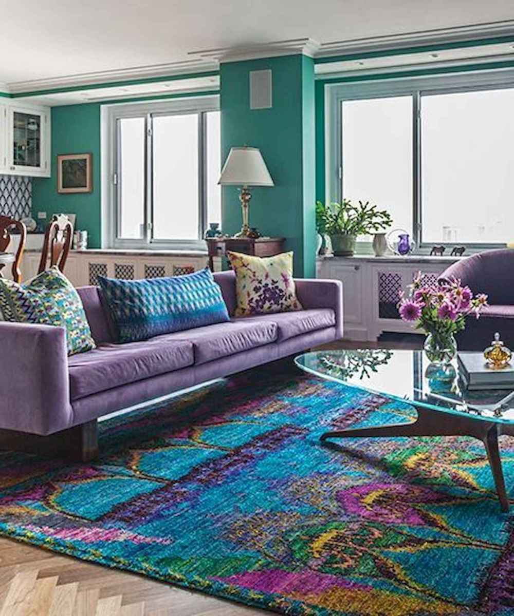 80+ Stunning Colorful Living Room Decor Ideas And Remodel for Summer Project (33)