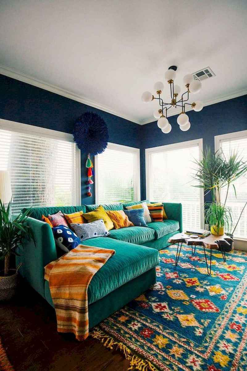80+ Stunning Colorful Living Room Decor Ideas And Remodel for Summer Project (40)