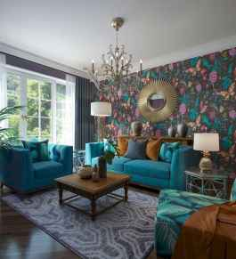 80+ Stunning Colorful Living Room Decor Ideas And Remodel for Summer Project (45)