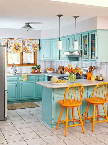 90+ Creative Colorful Apartment Decor Ideas And Remodel for Summer Project (27)