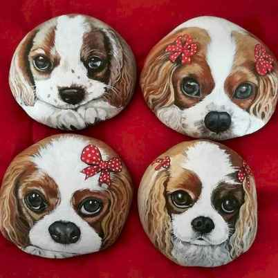 40 Awesome DIY Projects Painted Rocks Animals Dogs for Summer Ideas (1)
