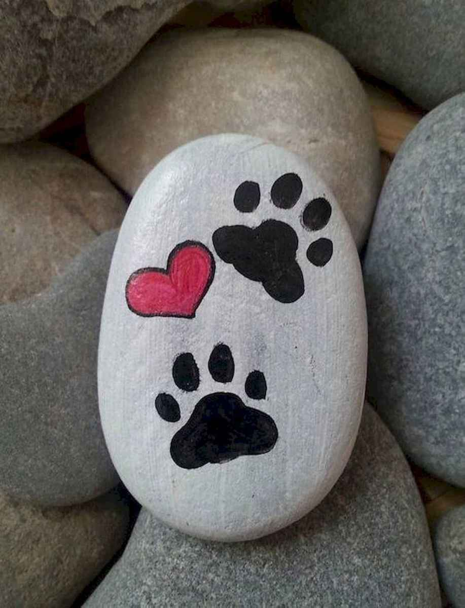40 Awesome DIY Projects Painted Rocks Animals Dogs for Summer Ideas (15)
