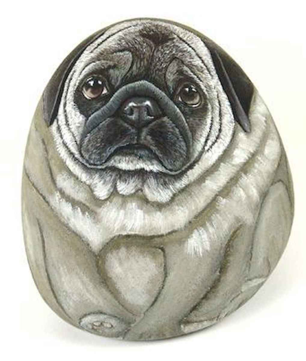 40 Awesome DIY Projects Painted Rocks Animals Dogs for Summer Ideas (20)