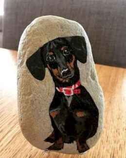 40 Awesome DIY Projects Painted Rocks Animals Dogs for Summer Ideas (23)
