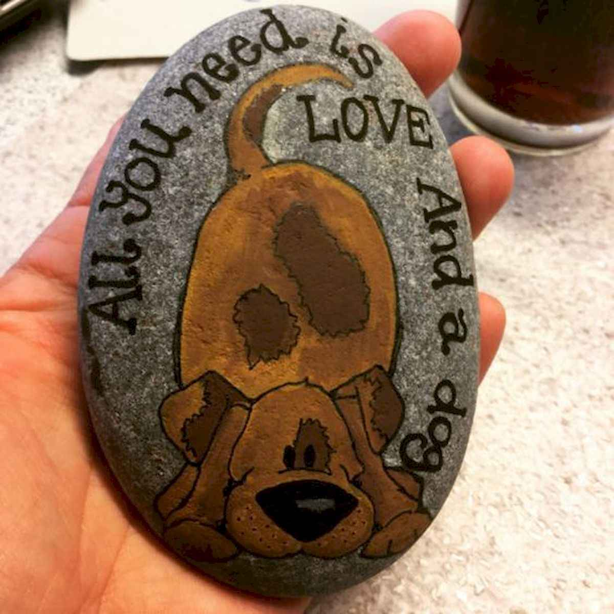 40 Awesome DIY Projects Painted Rocks Animals Dogs for Summer Ideas (25)