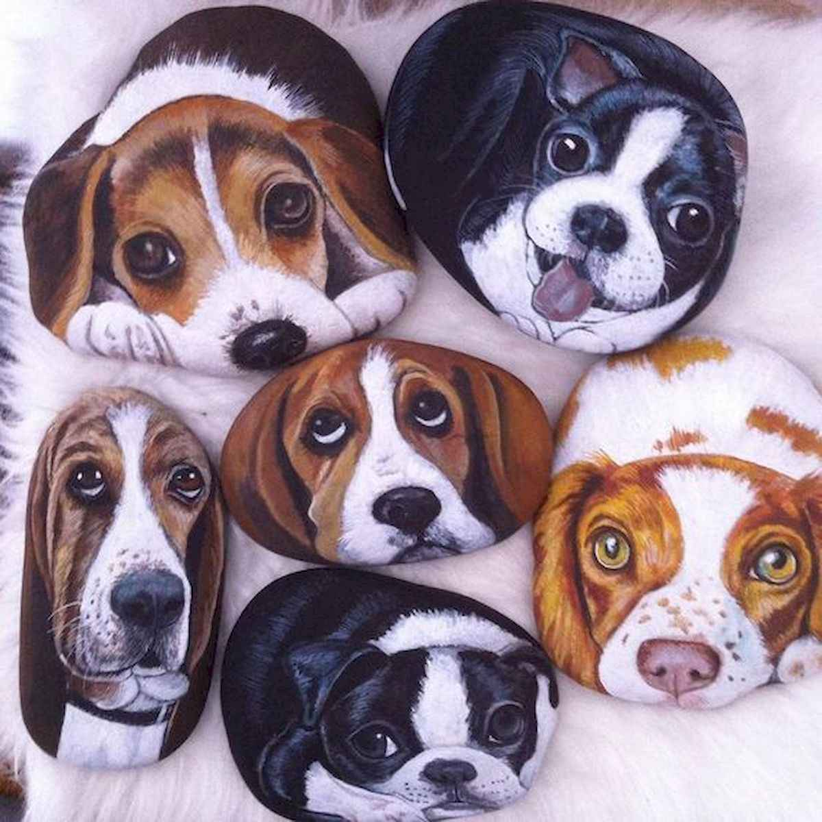40 Awesome DIY Projects Painted Rocks Animals Dogs for Summer Ideas (26)