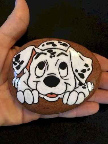 40 Awesome DIY Projects Painted Rocks Animals Dogs for Summer Ideas (28)