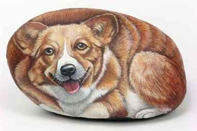 40 Awesome DIY Projects Painted Rocks Animals Dogs for Summer Ideas (29)