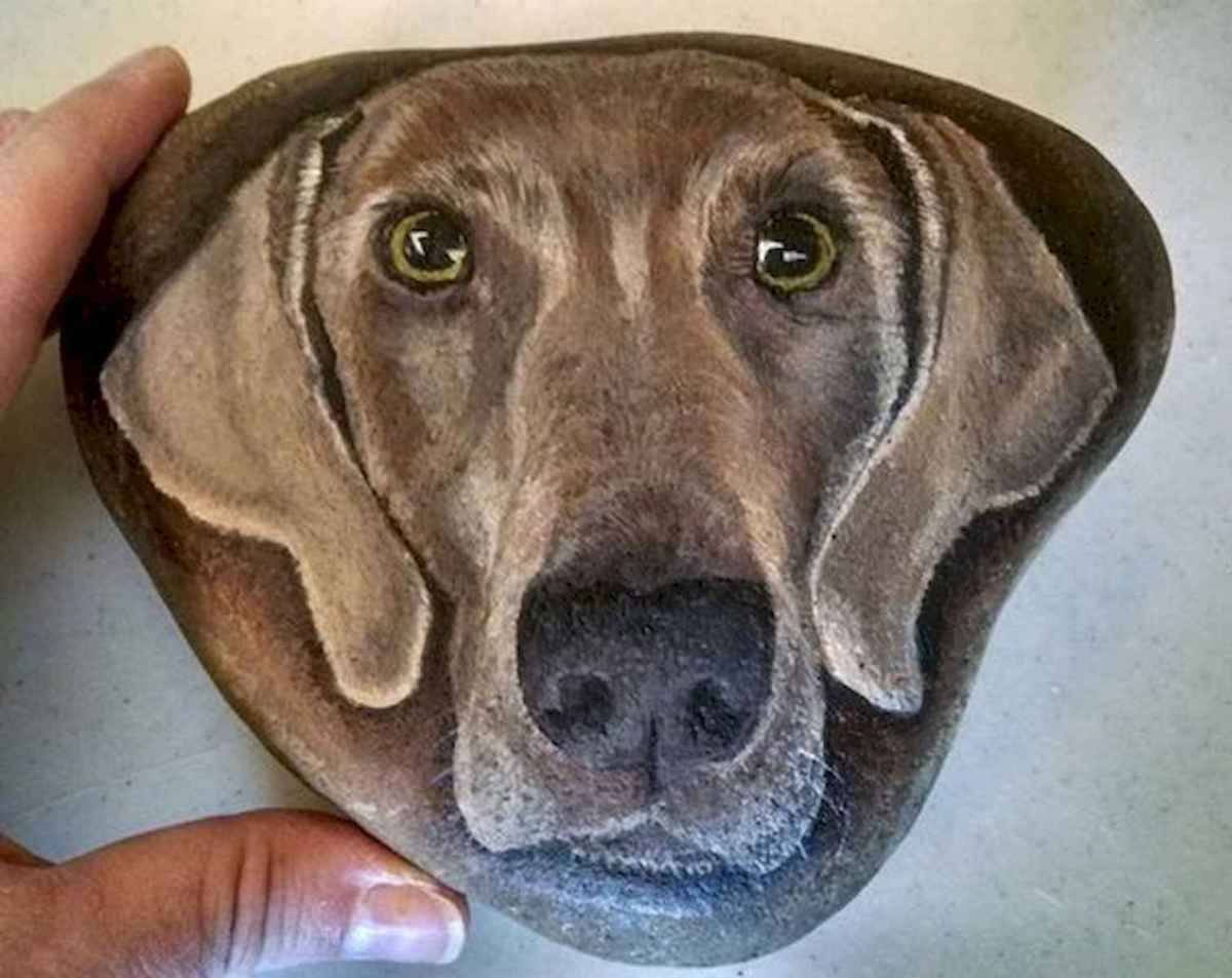 40 Awesome DIY Projects Painted Rocks Animals Dogs for Summer Ideas (3)