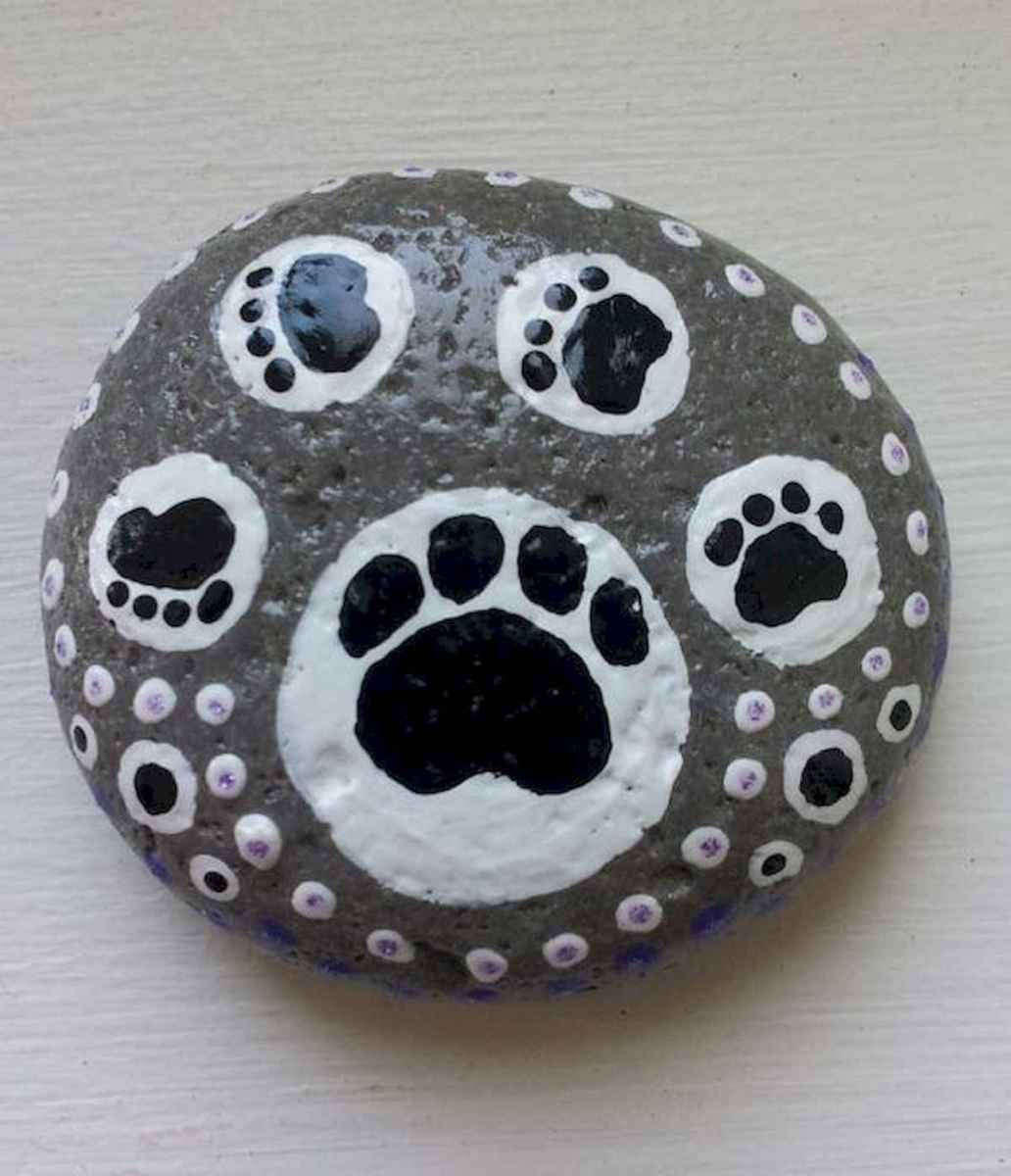 40 Awesome DIY Projects Painted Rocks Animals Dogs for Summer Ideas (5)