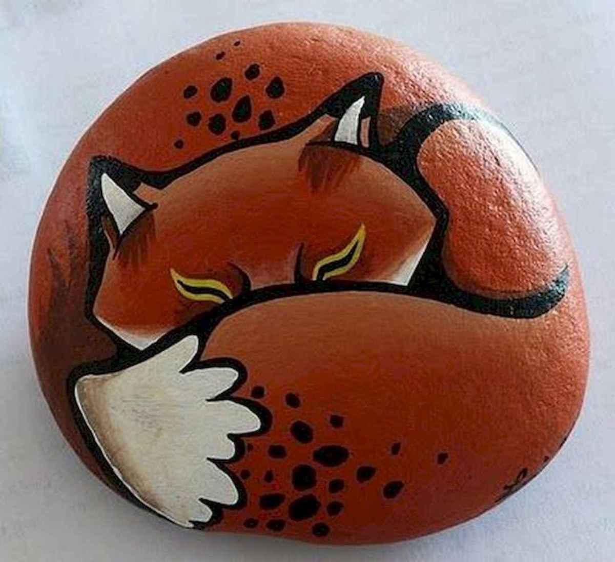 50 Inspiring DIY Painted Rocks Animals Cats for Summer Ideas (40)