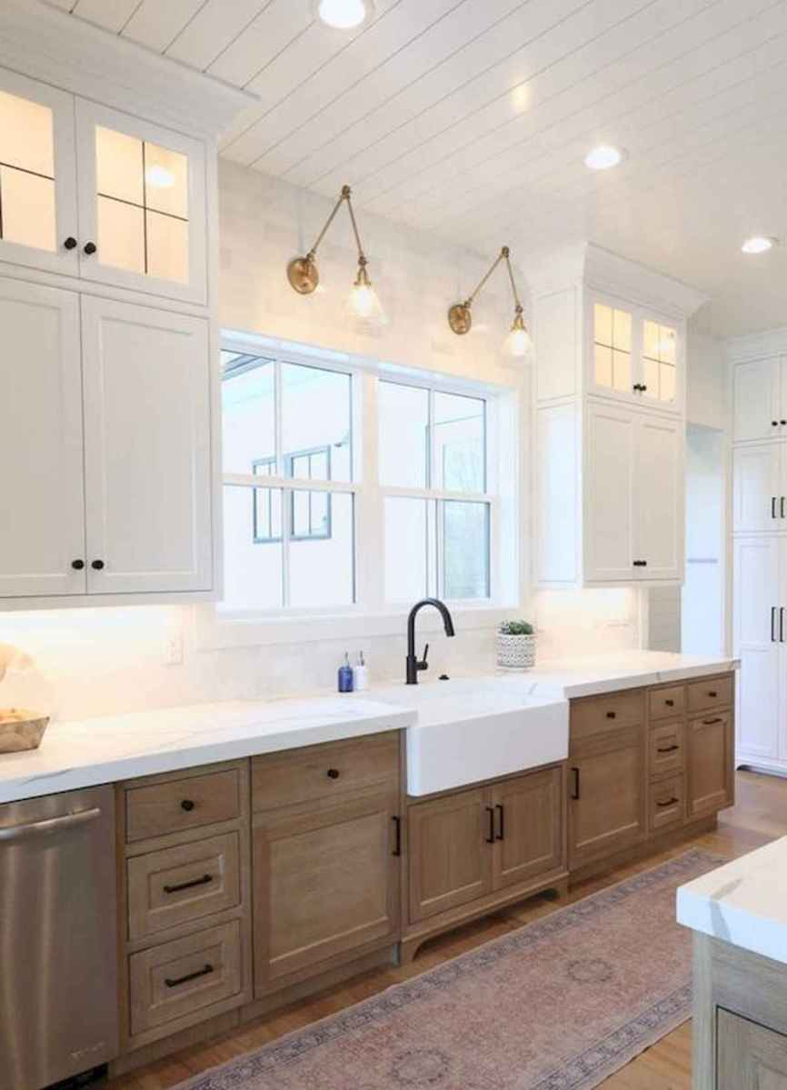 60 Lovely Painted Kitchen Cabinets Two Tone Design Ideas (16)