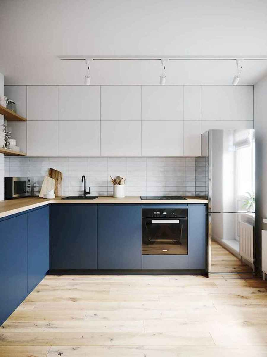 60 Lovely Painted Kitchen Cabinets Two Tone Design Ideas (17)
