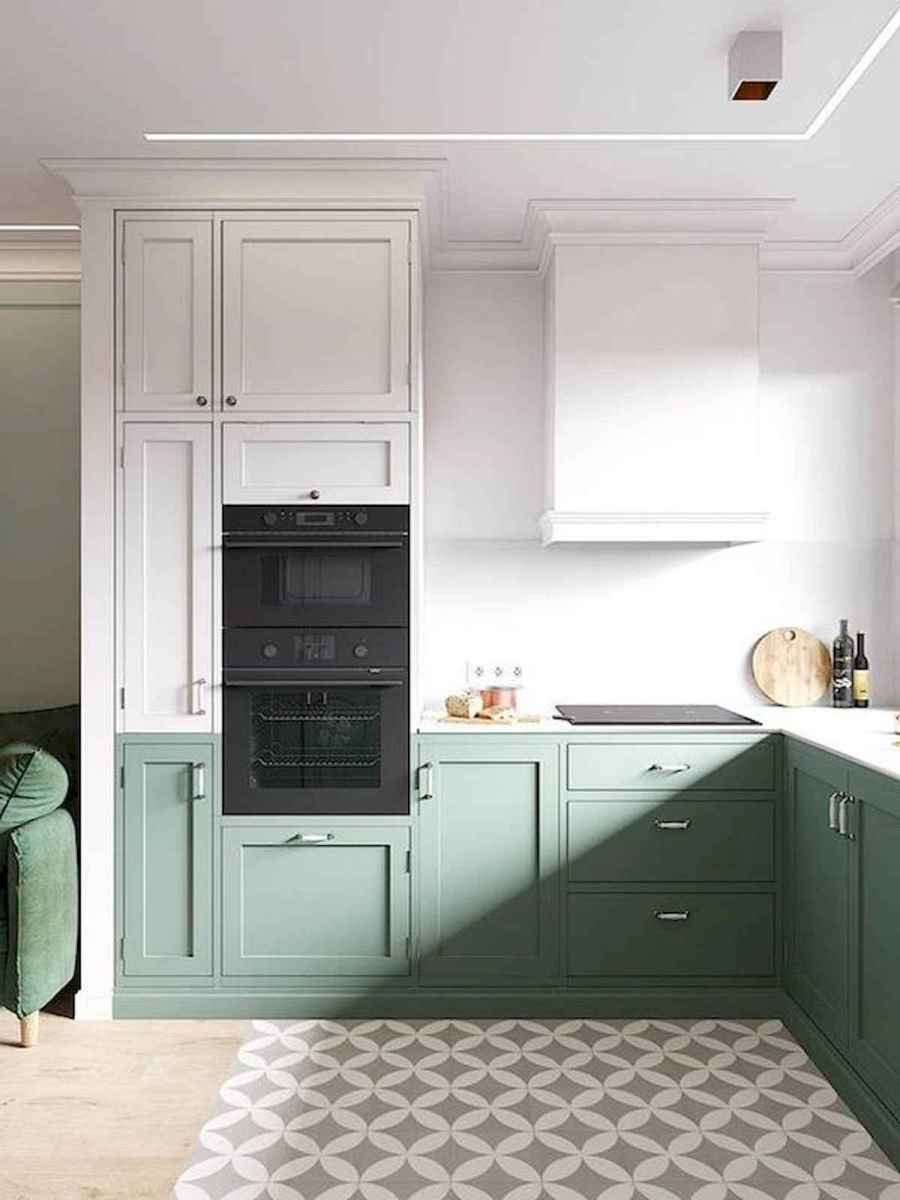 60 Lovely Painted Kitchen Cabinets Two Tone Design Ideas (30)