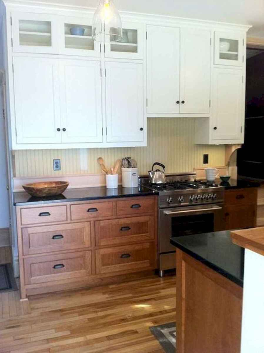 60 Lovely Painted Kitchen Cabinets Two Tone Design Ideas (32)