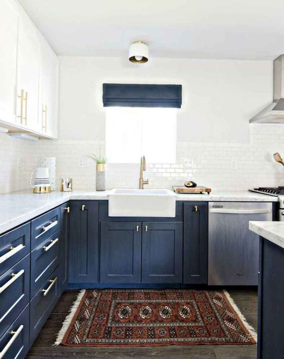 60 Lovely Painted Kitchen Cabinets Two Tone Design Ideas (48)