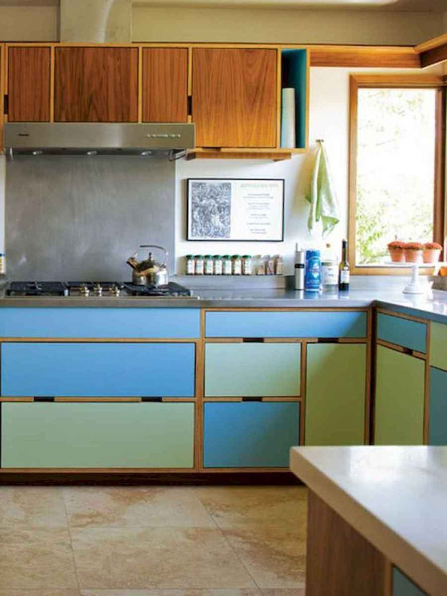 60 Lovely Painted Kitchen Cabinets Two Tone Design Ideas (5)