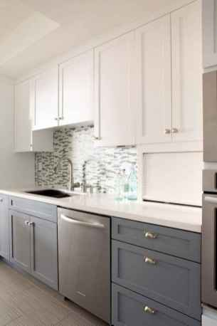 60 Lovely Painted Kitchen Cabinets Two Tone Design Ideas (52)