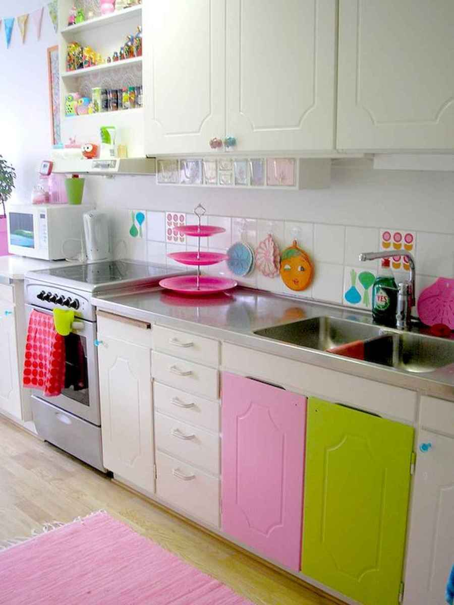 60 Lovely Painted Kitchen Cabinets Two Tone Design Ideas (60)