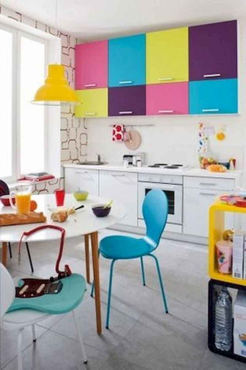 60 Lovely Painted Kitchen Cabinets Two Tone Design Ideas (7)