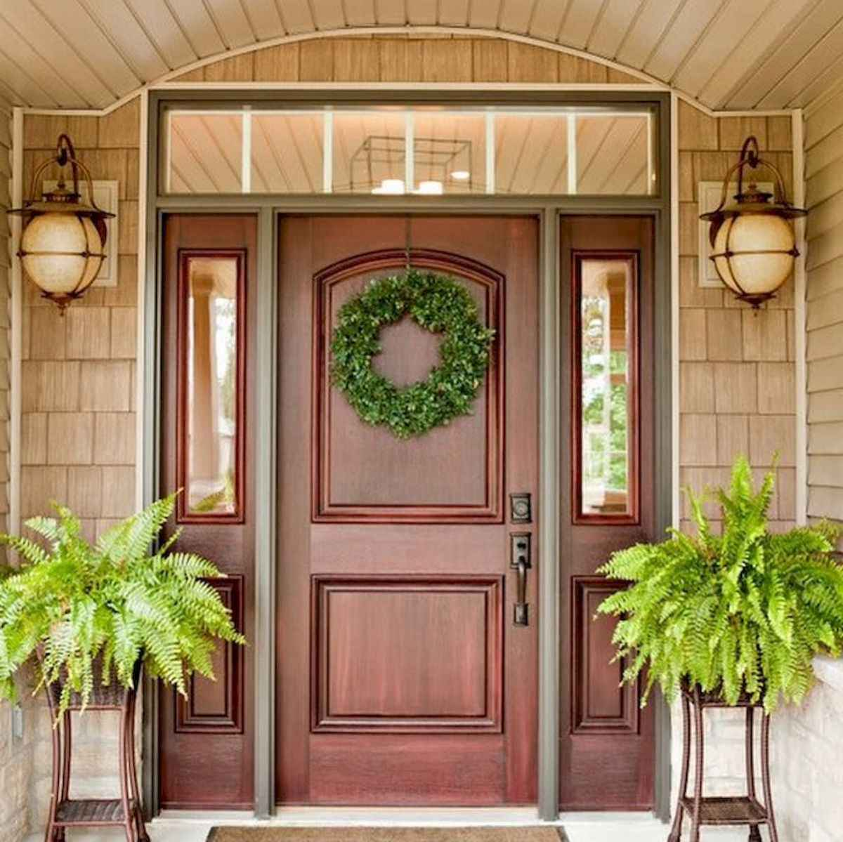 100 Unique Front Doors Colors Design Ideas (72)