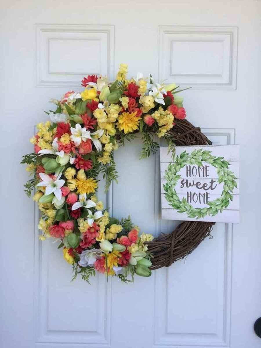 60 Beautiful Front Door Summer Wreath Decor Ideas (13)