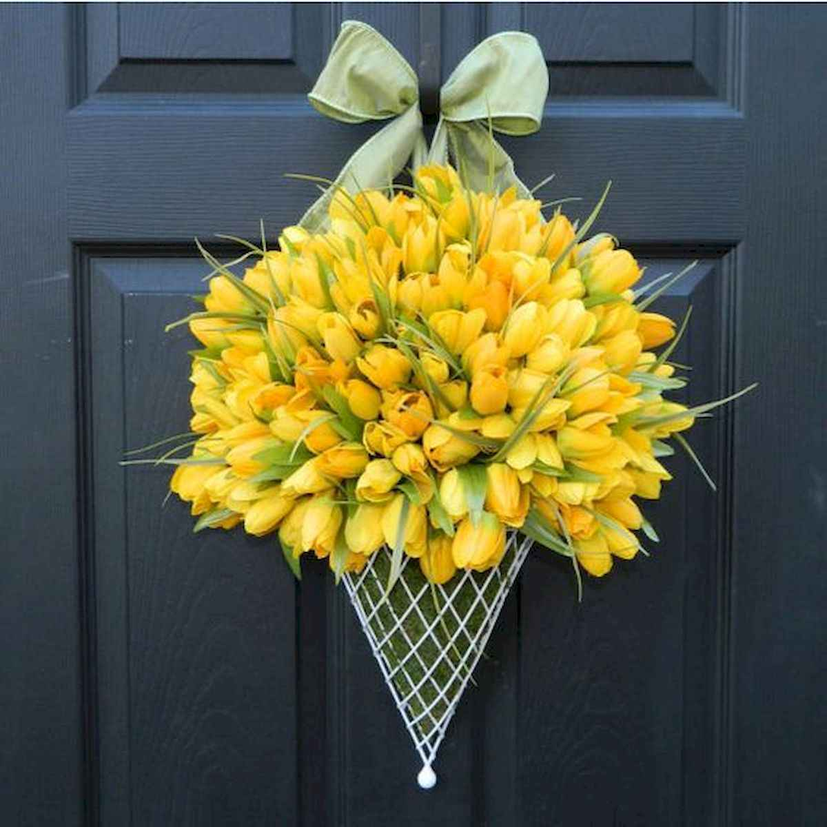 60 Beautiful Front Door Summer Wreath Decor Ideas (17)