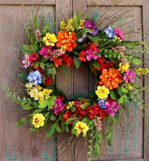60 Beautiful Front Door Summer Wreath Decor Ideas (19)