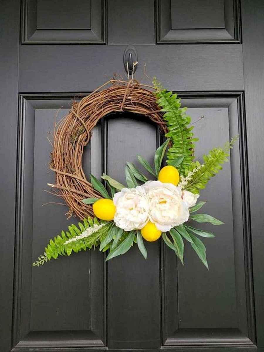 60 Beautiful Front Door Summer Wreath Decor Ideas (28)