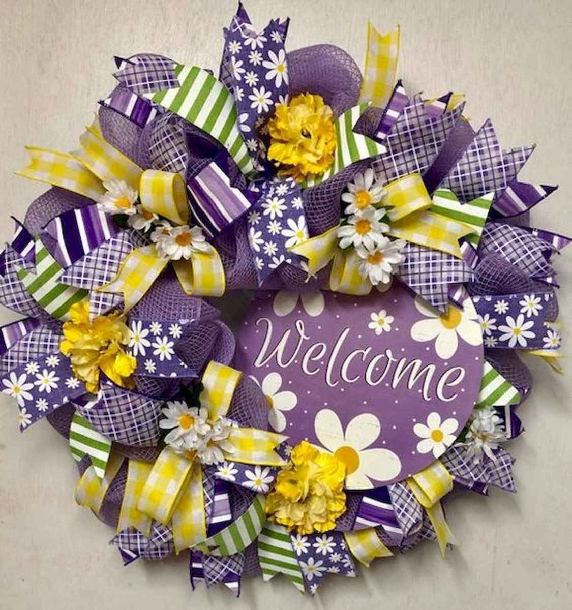 60 Beautiful Front Door Summer Wreath Decor Ideas (45)