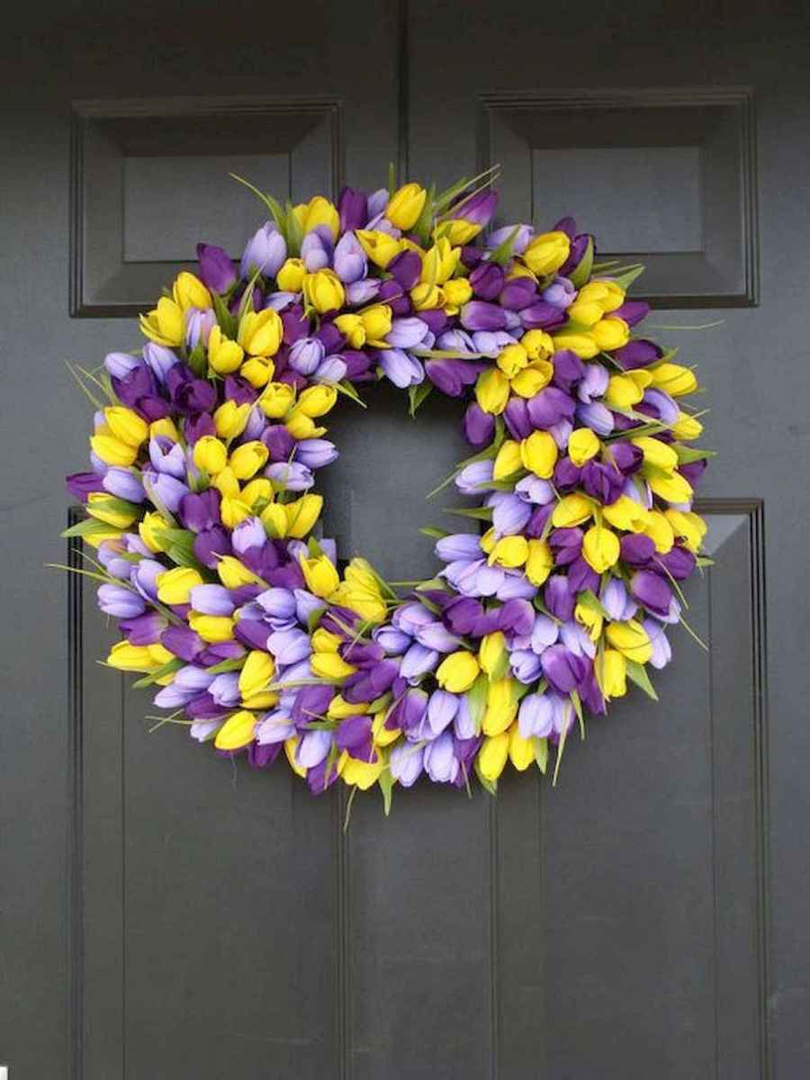 60 Beautiful Front Door Summer Wreath Decor Ideas (50)