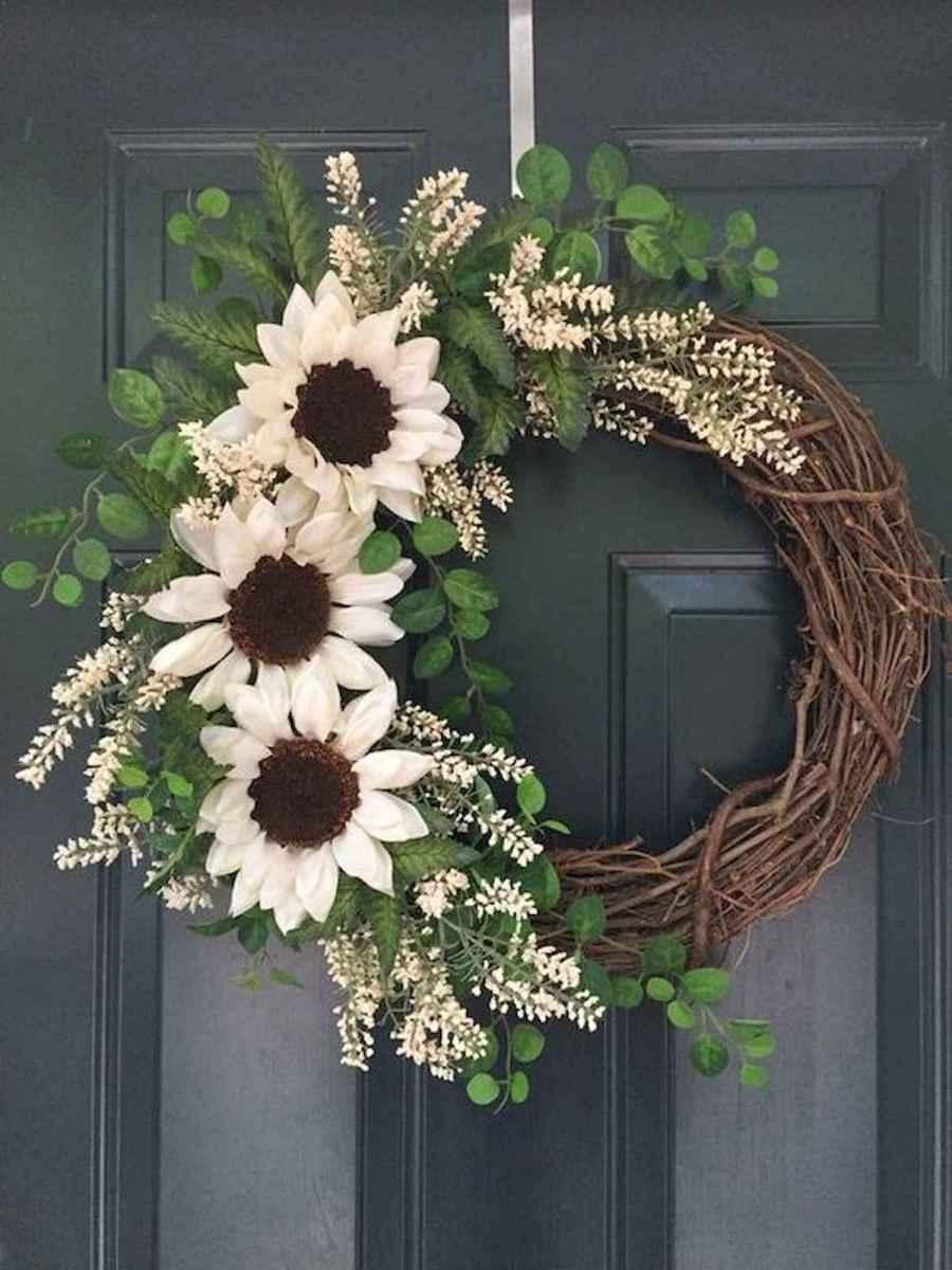 60 Beautiful Front Door Summer Wreath Decor Ideas (9)