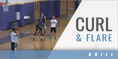 Curl and Flare Shooting Drill